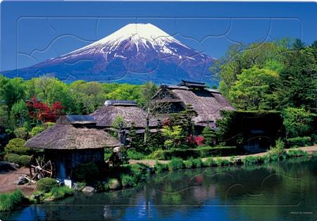 忍野村より富士